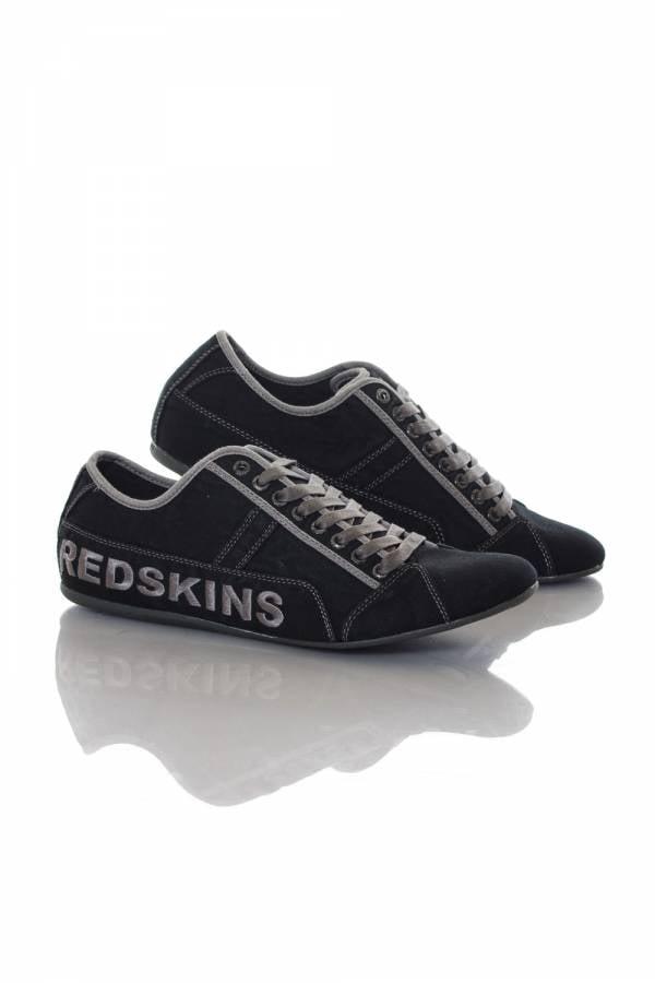 Baskets en cuir Homme Chaussures Redskins TEMPO NOIR+GUN
