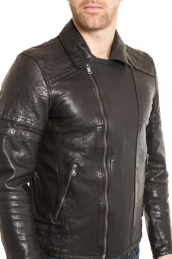 Blouson Homme Daytona WARREN LAMB HARVEY BLACK
