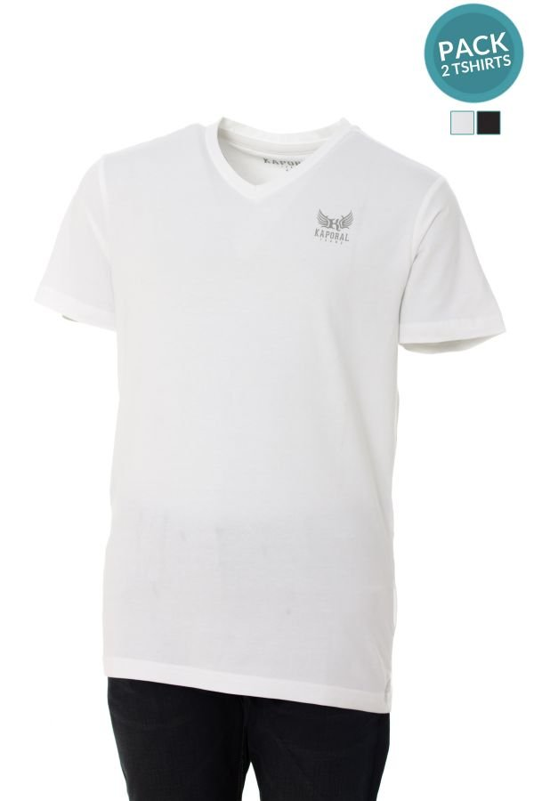 Tee Shirt Enfant Kaporal CIFT WHITE BLACK
