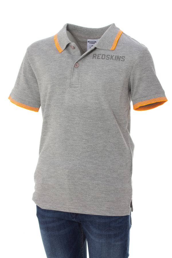 Polo Enfant Redskins Junior TIMOR PIQUE GREY MELANGED