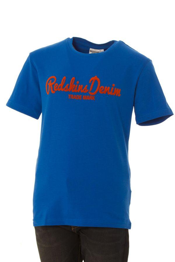 Tee Shirt Enfant Redskins Junior GROUND 2 CALDER BLEU AZUR