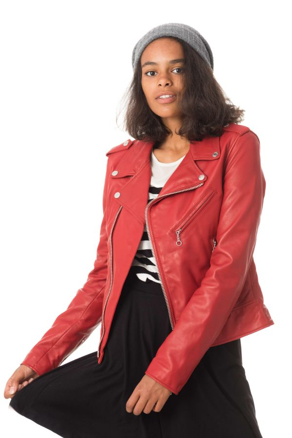 Blouson Femme Schott LCW1601D RED