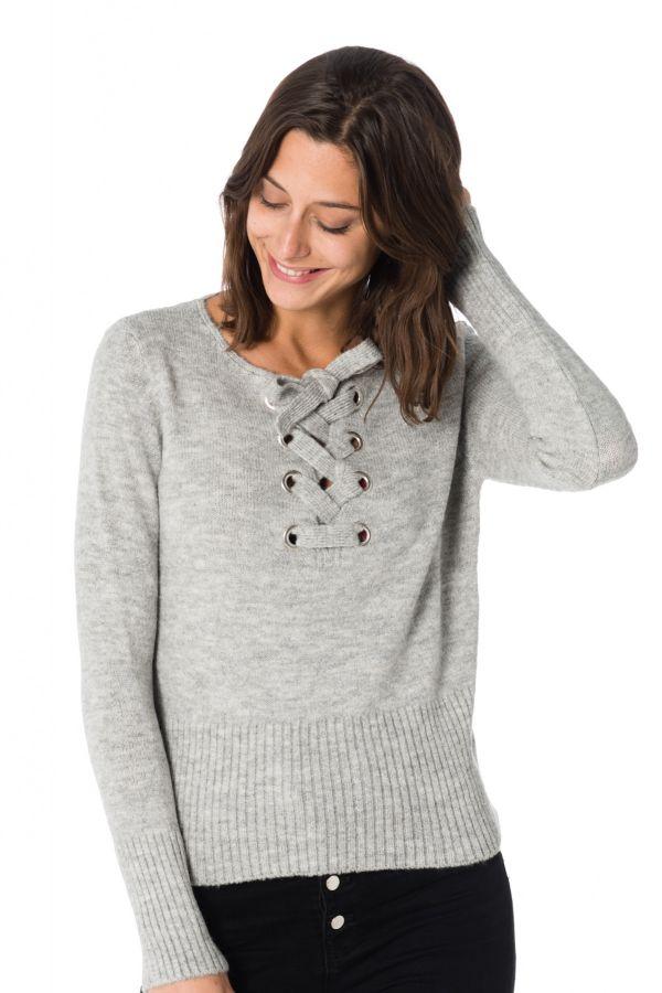 6236b29361fd6 Pull/Sweatshirt Femme Kaporal CYRIA LIGHT GREY MEL