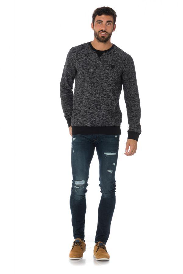 Pull/sweatshirt Homme Kaporal BRONZ BLACK MELANGED