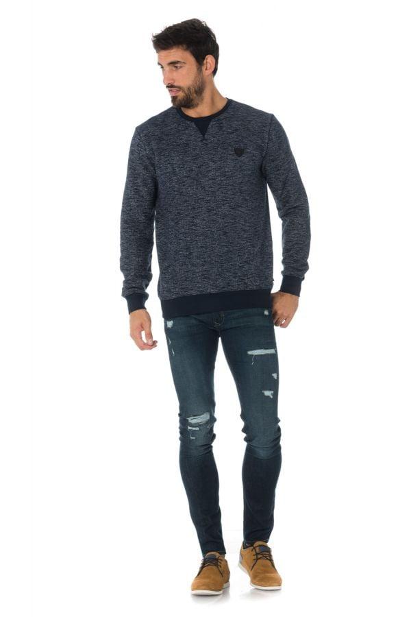 Pull/Sweatshirt Homme Kaporal BRONZ NAVY MELANGED