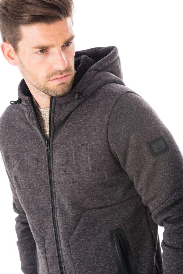 Pull/Sweatshirt Homme Kaporal NICHI DARK GREY MELANGED H16