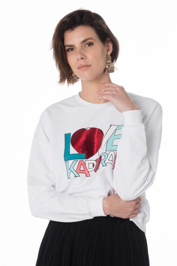 PullSweatshirt Femme Kaporal BRANT WHITE Cuir – spécialiste du cuir