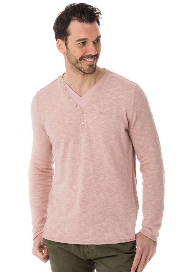 pull sweatshirt homme kaporal relmi dust pink cuir. Black Bedroom Furniture Sets. Home Design Ideas