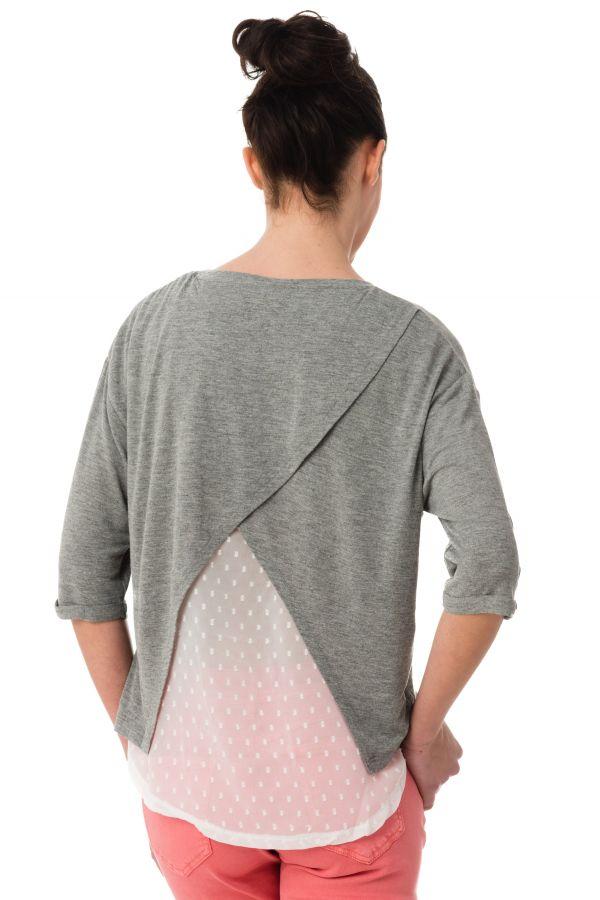 Pull/Sweatshirt Femme Kaporal APOLO LIGHT GREY MELANGED