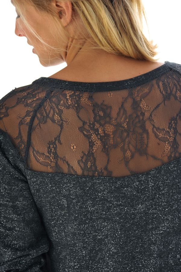 Pull/Sweatshirt Femme Kaporal CEVIX DARK GREY MELANGED