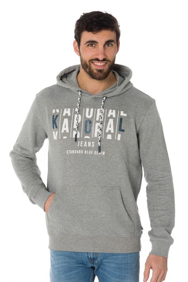 Kaporal Grey Medium Plume Pullsweatshirt Homme Mel Cuir f1q5q7w