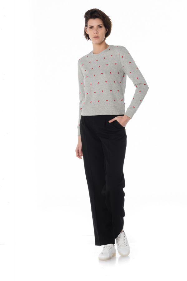Pull/sweatshirt Femme Le Temps Des Cerises SWEAT BLUSH ASH GREY