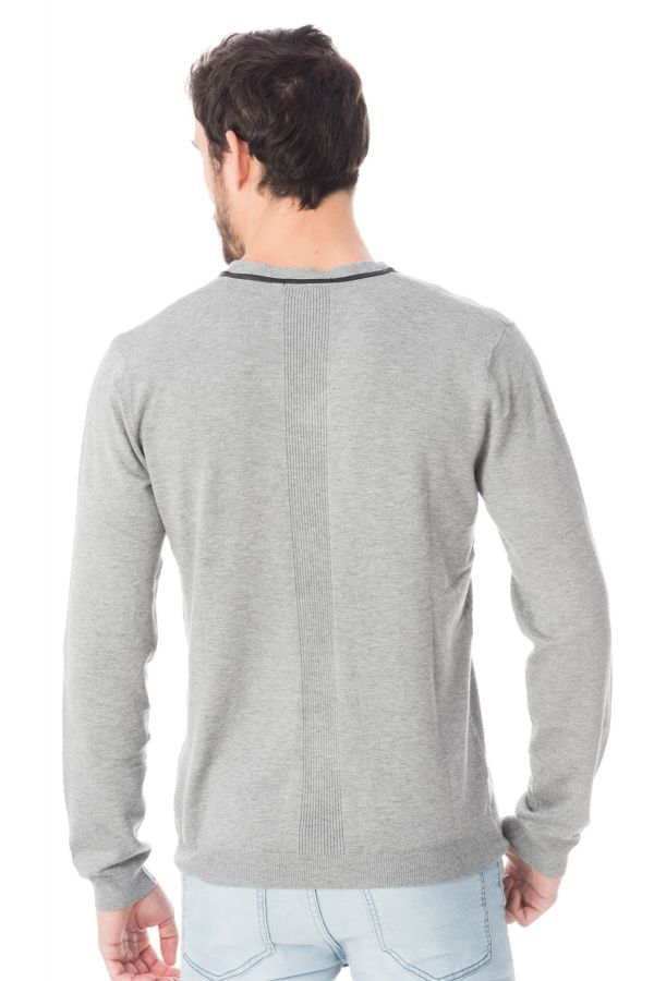 Pull/Sweatshirt Homme Redskins MISTER ELVIS GREY CHINE H16