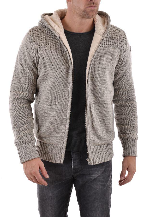 Pull/Sweatshirt Homme Schott PLFACT2 HEATHER BEIGE