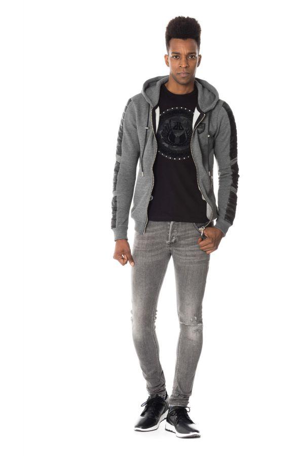 Pull/Sweatshirt Homme horspist IGOR ANJO ANTHRACITE CHINE /BLACK
