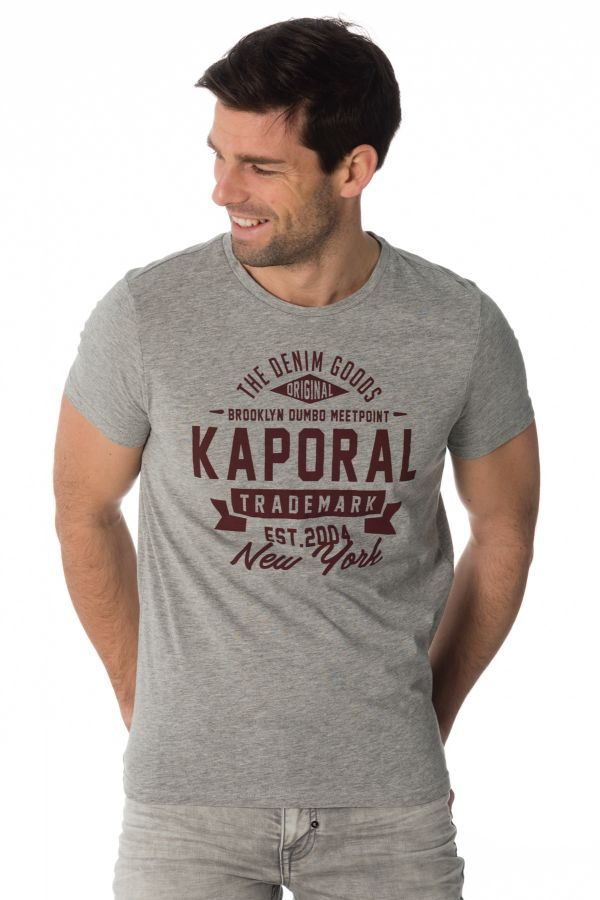 Tee Shirt Homme Kaporal MEVER GREY MELANGED