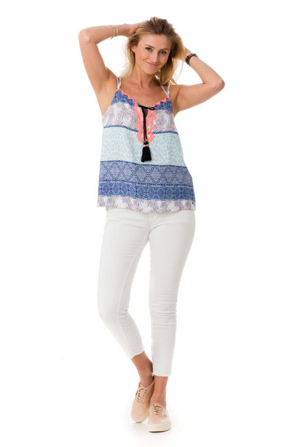 Tee Shirt Femme Kaporal NIRS OPTICAL WHITE