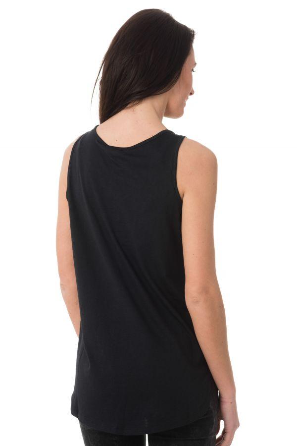 Tee Shirt Femme Kaporal FISHY BLACK