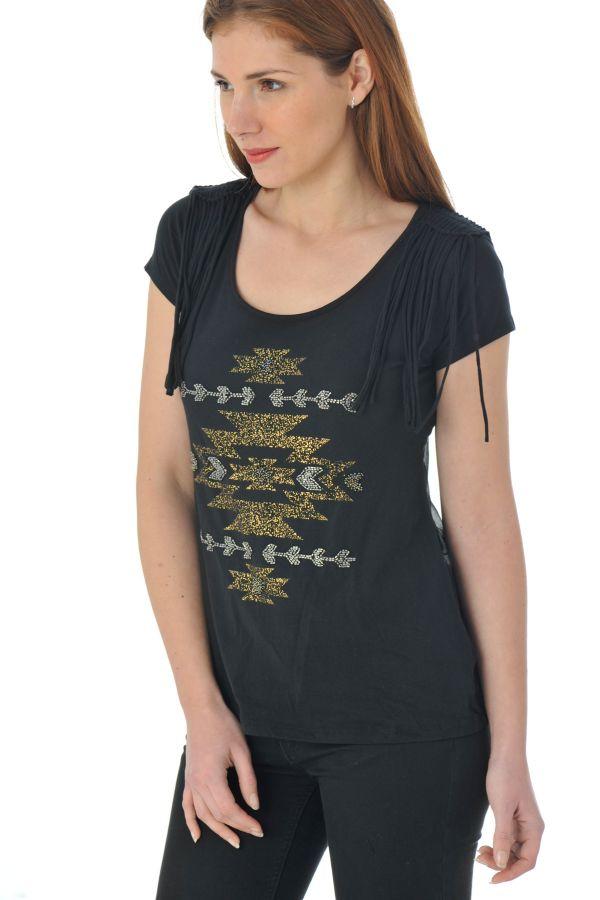 Tee Shirt Femme Kaporal LANA BLACK