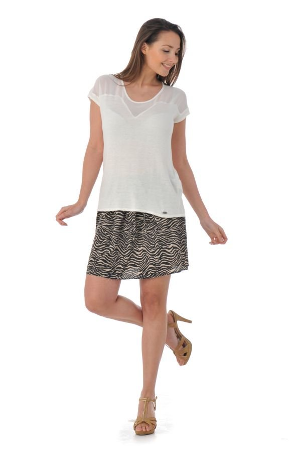 Tee Shirt Femme Kaporal ROY OFF WHITE