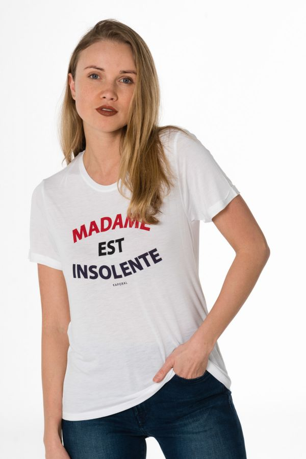 Facto Tee Cuir Spécialiste White Kaporal Du Shirt Femme – c3LjS54ARq
