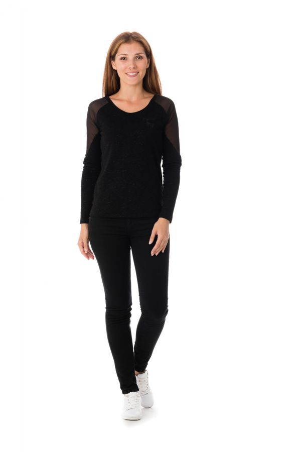 Tee Shirt Femme Kaporal TIGRY BLACK H16