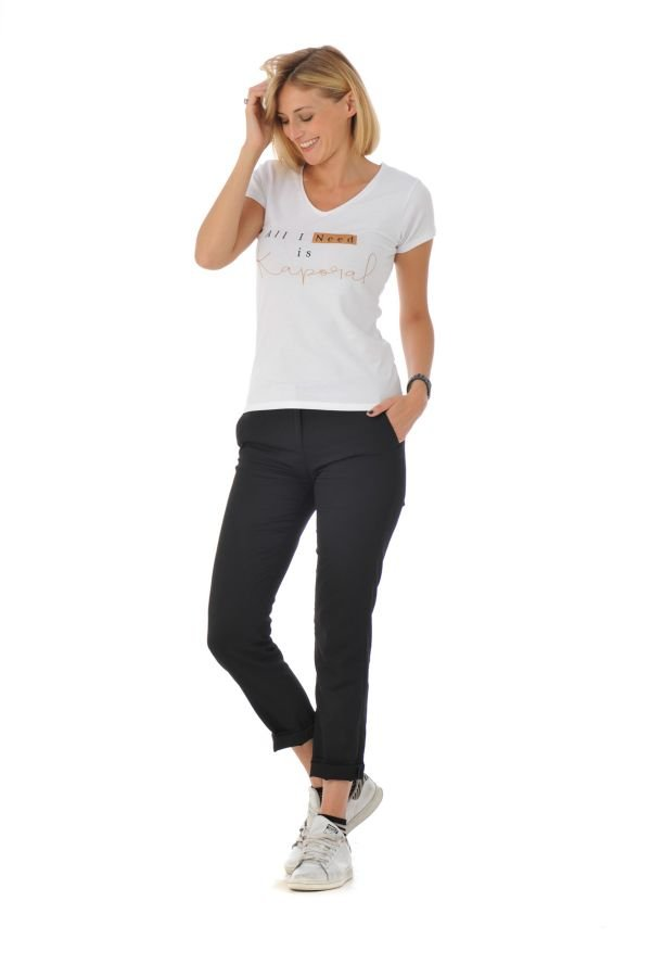 Tee Shirt Femme Kaporal COBAL OPTICAL WHITE H16