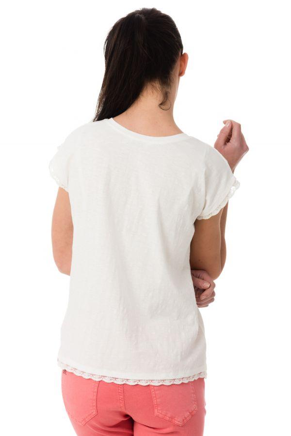 Tee Shirt Femme Kaporal FEAR OFF WHITE
