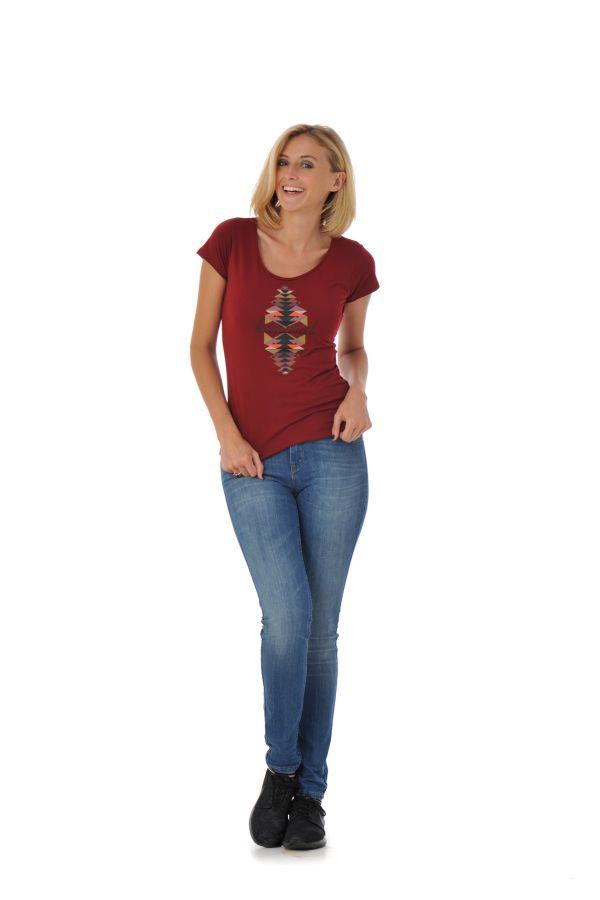 Tee Shirt Femme Kaporal TRAX BORDEAUX H16