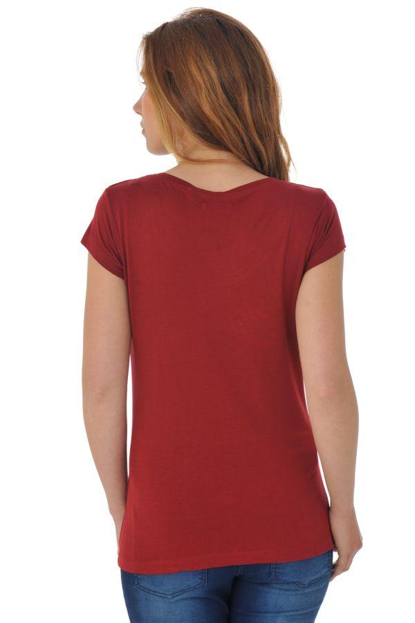 Tee Shirt Femme Kaporal TIREX H16 BORDEAUX