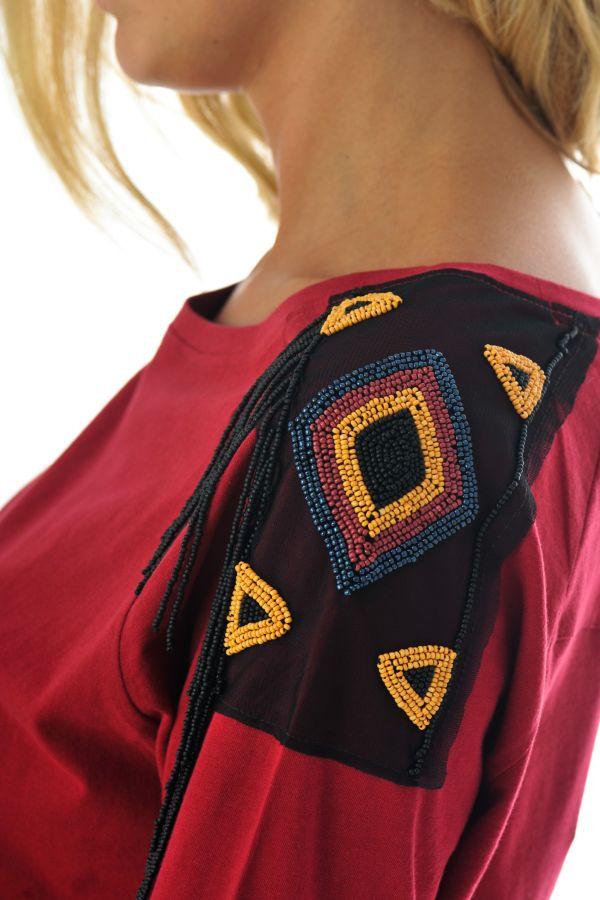 Tee Shirt Femme Kaporal TEEN BORDEAUX H16