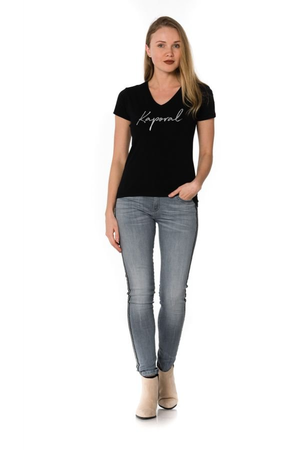 Tee Shirt Femme Kaporal BUXOM BLACK