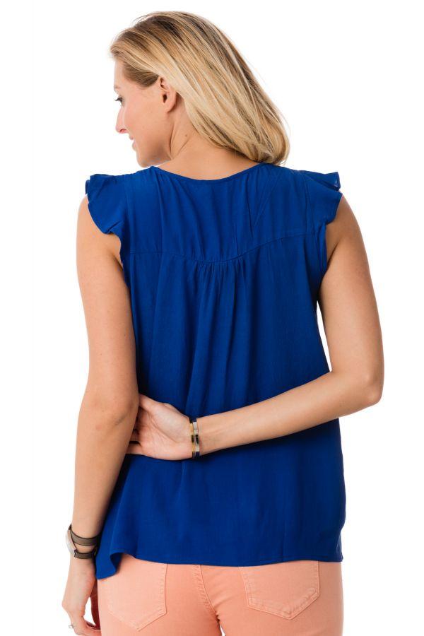 Tee Shirt Femme Kaporal FIRM STRONG BLUE