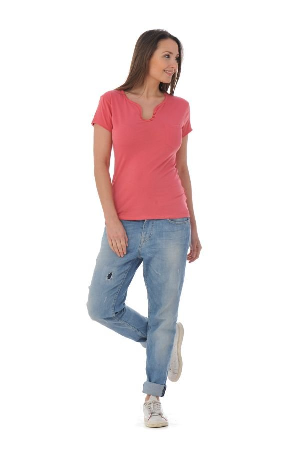 Tee Shirt Femme Kaporal NUCK GARNET ROSE P16