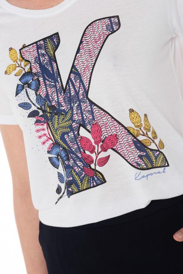 Tee Shirt Femme Kaporal FRERE WHITE