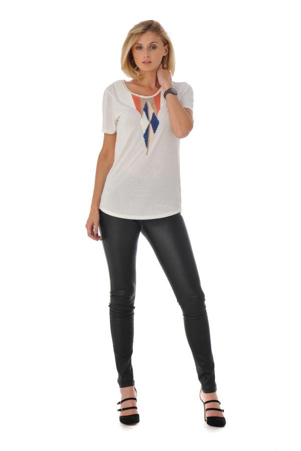 Tee Shirt Femme Kaporal TONY OFF WHITE H16