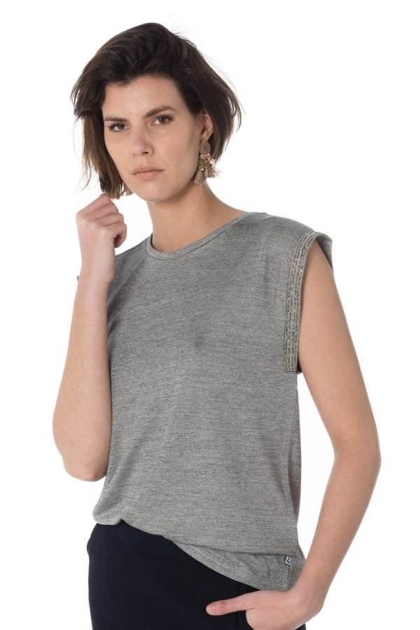 Tee Shirt Femme Le Temps Des Cerises TSHIRT KIFLASH SILVER