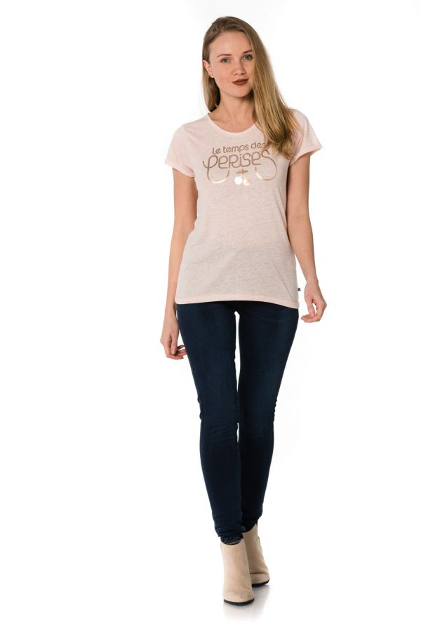Tee Shirt Femme Le temps des Cerises TSHIRT BASITRAME SUMMER BLUSH