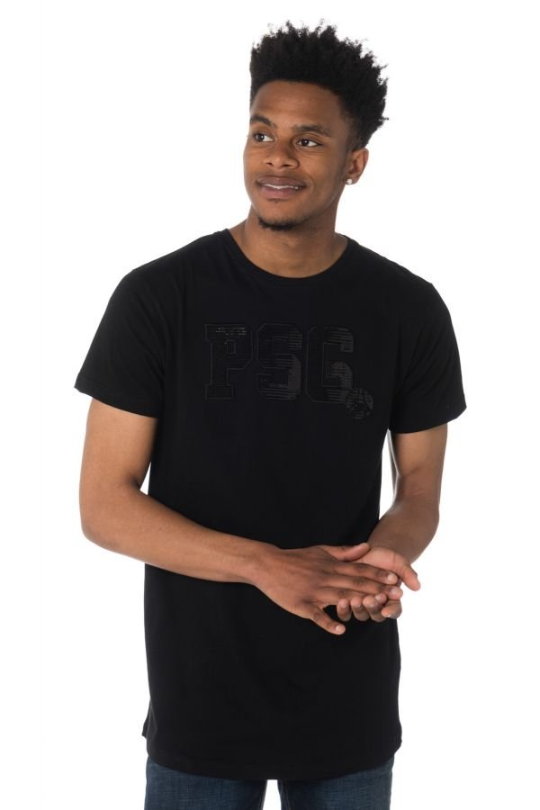 Tee Shirt Homme Paris Saint Germain D QAYIM NOIR