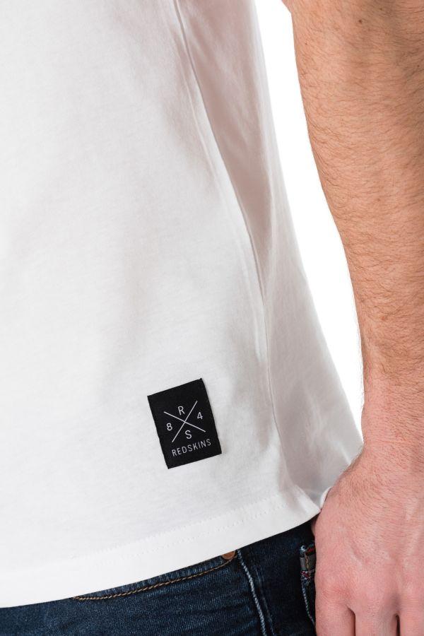Tee Shirt Homme Redskins ZICA HANDY WHITE