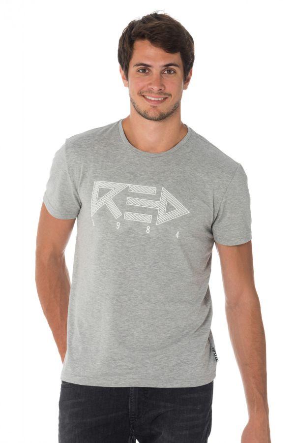 Tee Shirt Homme Redskins BLOCKER CALDER HEATHER GREY