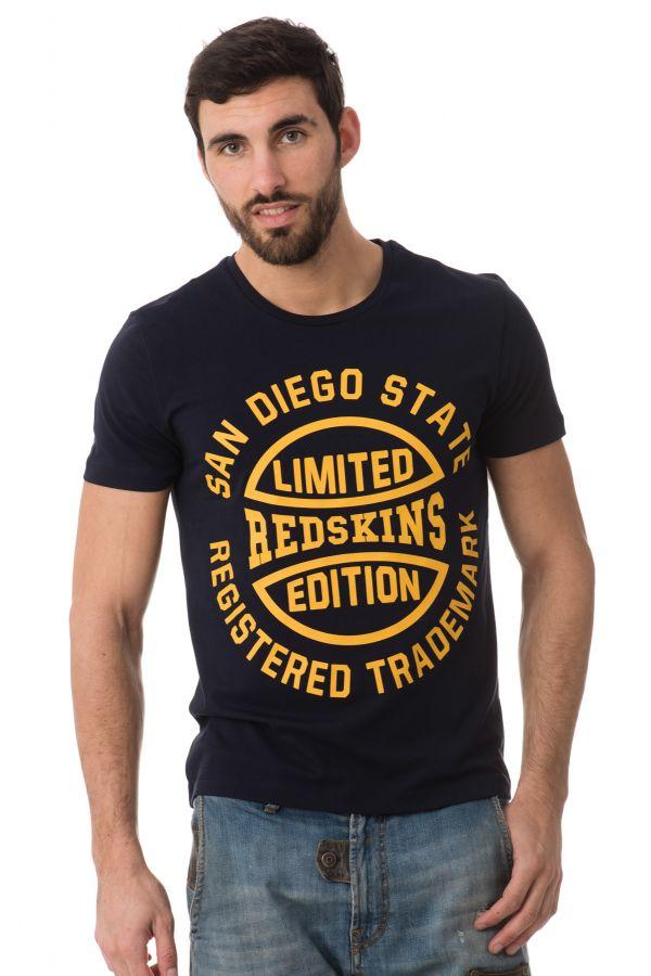 Tee Shirt Homme Redskins KESINGSTON CALDER NAVY YELLOW H16