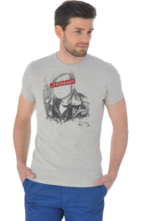 Tee Shirt Homme Schott TSICON2 H GREY