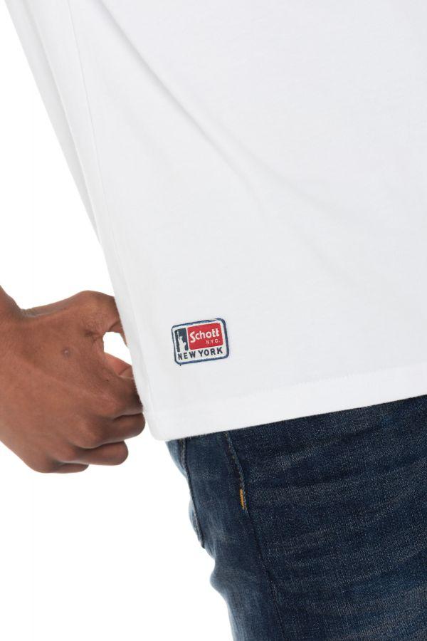 Tee Shirt Homme Schott TSCAMPUS WHITE