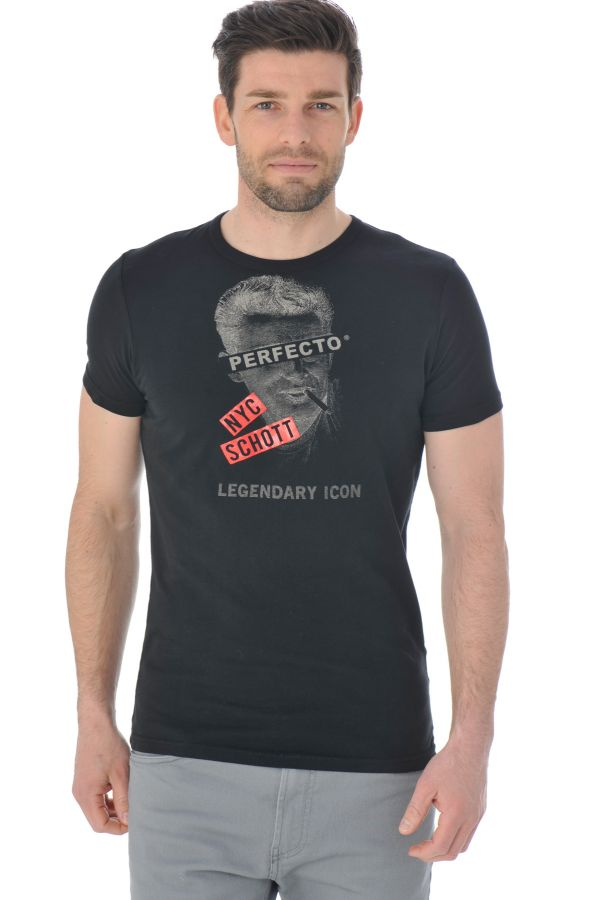 Tee Shirt Homme Schott TSICON1 BLACK