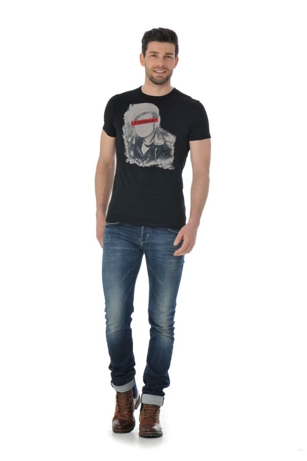 Tee Shirt Homme Schott TSICON2 BLACK