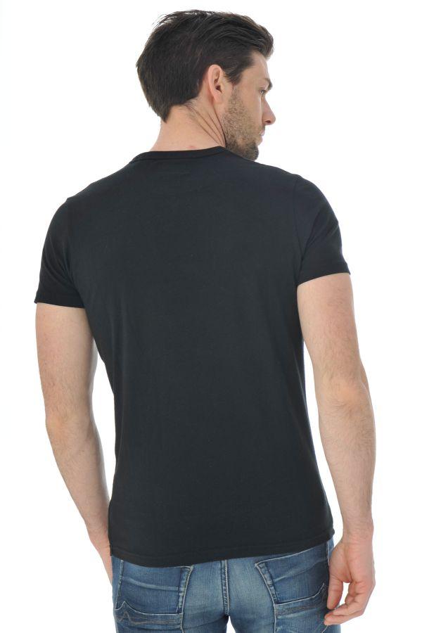Tee Shirt Homme Schott TSICON2 BLACK