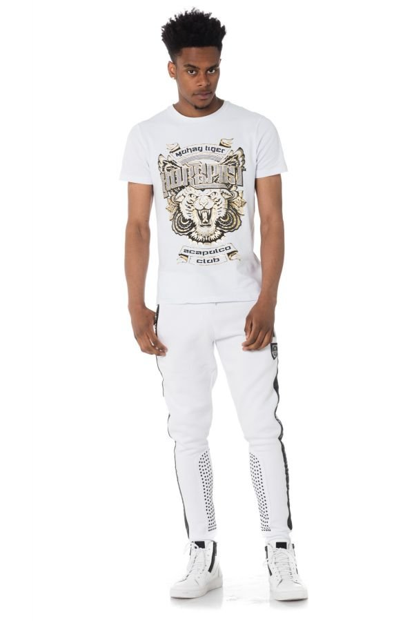 Tee Shirt Homme Horspist DALLAS M500 WHITE GOLD