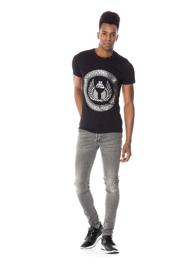 Tee Shirt Homme horspist PAUL BOOSTER BLACK/SILVER