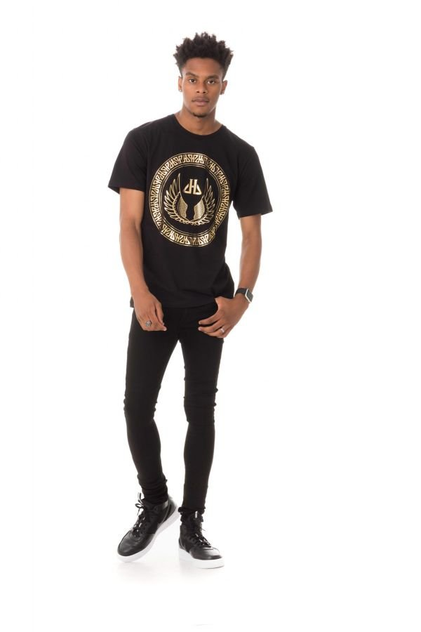Tee Shirt Homme Horspist PAUL BOOSTER BLACK/GOLD